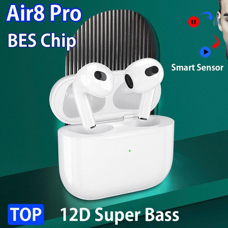 Air4 Air5 Air6 Air8 Pro PK Air3 TWS беспроводные наушники BES / Airoha 1562S чип 12D Super Bass Bluetooth-наушники PK i99999 Plus