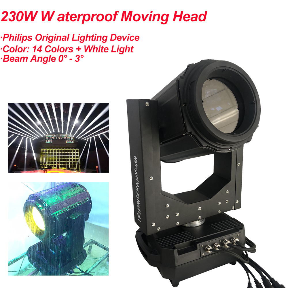 2020 New Waterproof 230W 7R Outdoor Beam Moving Head Light Super 350 DMX Disco DJ Party Stage Lights