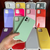 Original oficial líquido caso para iPhone SE 2020 11 12 Pro X XR XS Max 13 Mini caso para iPhone 13 12 Pro Max 7 8 Plus de la cubierta completa