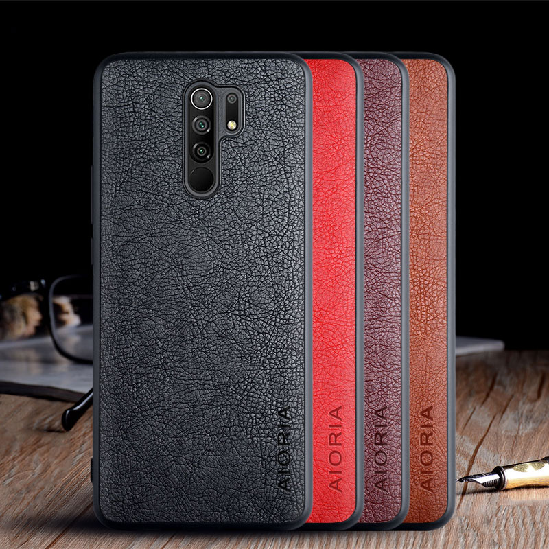 Case For Xiaomi Redmi 9 9A 9C Funda Luxury Vintage Leather Skin Capa Soft Tpu Phone Cover For Xiaomi Redmi 9 Case Funda Coque