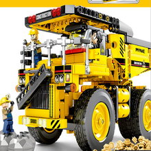 HUIQIBAO Engineering Bulldozer Crane Technic Dump Truck Building Blocks City Construction vehicle car Toy For Children kids gift 1061 pcs building block city blocks army truck building blocks military vehicle playmobil building toy for children kids gift