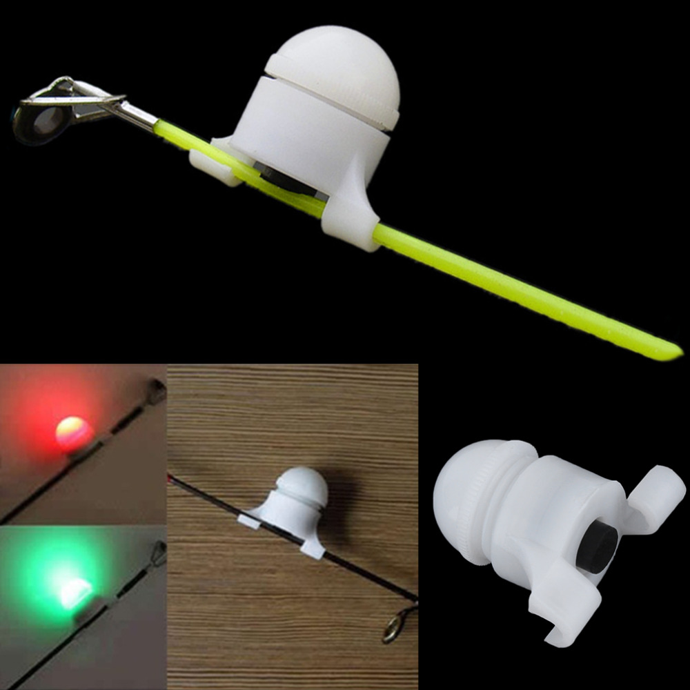 Portable 2 In 1 LED Night Fishing Rod Tip Clip On Fish Strike Bite Alert Alarm Light Fishing Accessories LED Rod Clip
