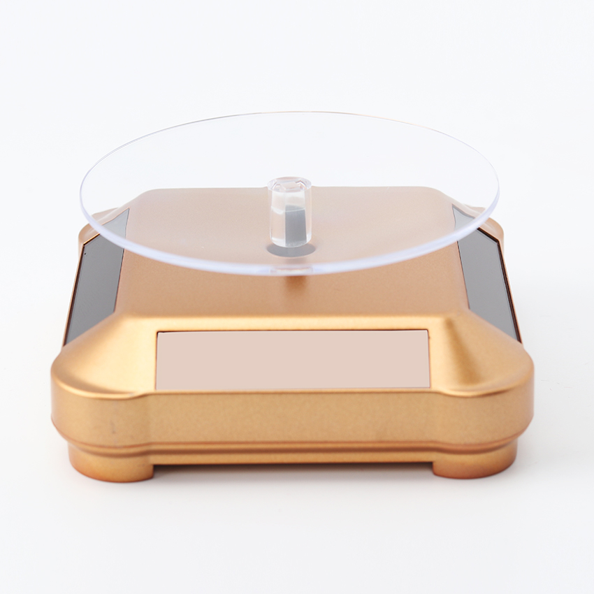 Solar Showcase 360 Turntable Rotating Jewelry Watch Ring Phone Stand Display Jewelry Organizer Hard Display Stand