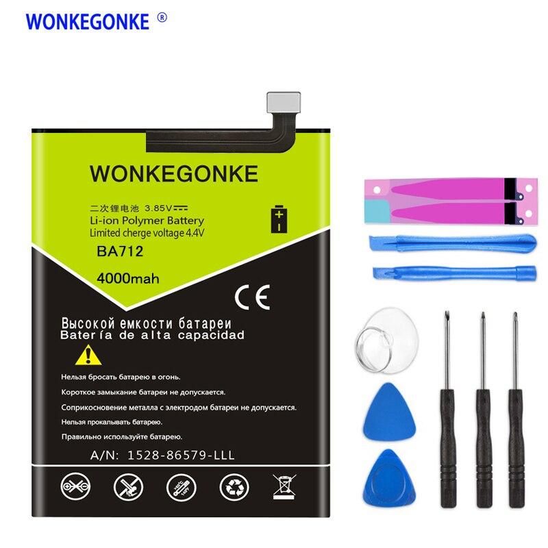 WONKEGONKE BA712 Battery For MEIZU M6s Meilan S6 Mblu S6 M712H M712c, M712M, M712Q, M712Q-B Batteries + Tools