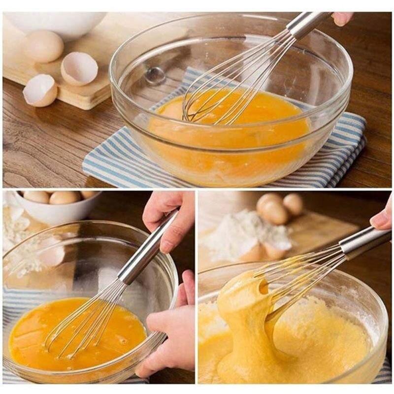 Мини-размер венчик для яиц из нержавеющей стали для дома и сада мини-салон парикмахерский инструмент для выпечки торта кухонный блендер ручка ручной