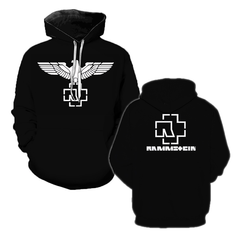Rock Metal Hoodies Pullover Hooded-Sweatshirts Hipster Streetwear Hip-Hop Rammstein Casual