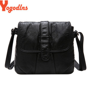 Yogodlns New Designer Shoulder Bag Soft Leather Handbag Women Messenger Bags Crossbody Fashion Women Bag Female Flap Bolsa