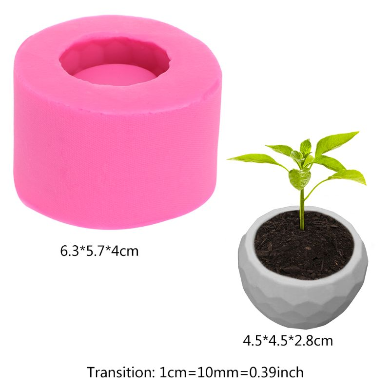3D Concrete Planter Cactus Cement Silicone <font><b>Mold</b></font> DIY Clay Craft <font><b>Flower</b></font> Pot <font><b>Vase</b></font> image