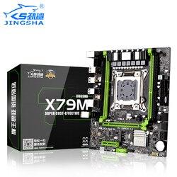 JINGSHA X79 płyta główna LGA2011 procesor ATX SATA PCI-E NVME M.2 SSD X79 M-S 2.0 LGA 2011 płyta główna podwójny kanał DDR3 do 64GB