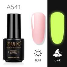 Rosalind oje kapalı ıslatın UV jel gece kızdırma koyu parlak jel Lak jel lehçe gerek taban pardösü floresan parlak jel