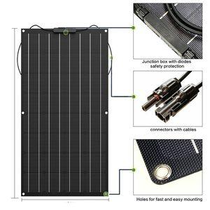 Image 4 - 높은 품질 300W etfe 유연한 태양 전지 패널 동등한 3PCS 100W 패널 태양 Monocrystalline 태양 전지 12v 태양 전지 충전기