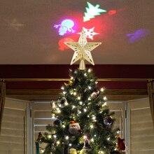 Светодиодный лазерный светильник для проектора в виде снеговика и рождественской елки