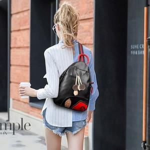 Image 3 - 3 Sets Fashion Leaf Backpack High Quality Chest Bags for Women School Bags for Teenage Girls Travel Backpack Mochila Feminina
