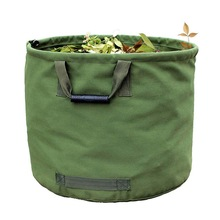 Portable Foldable Large Waste Bag Garden Leaves Waste Waterproof Canvas Camping Reusable Trash Storage Container reusable yard w