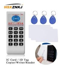 ハンドヘルド125 125khzの13.56mhzコピー機デュプリケータークローナーrfid nfc icカードリーダー & ライター + 3個125 125khzの + 3個13.56mhzのカード