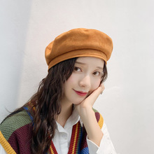 Big Bow Elegant Berets Women Winter Hat Harajuku Suede Wool Beret with Bowknot 2019 New Fashion Womens hat