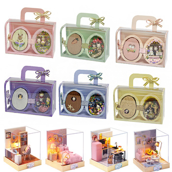 Diy Doll House Furniture Diy Miniature 3D Wooden Miniaturas Dollhouse Toys for Children Birthday Gifts UNDERSEA ROAMING R006 doll house furniture diy miniature dust cover 3d wooden miniaturas dollhouse toys cat children birthday gifts kitten diary