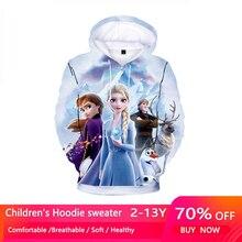 New Spring Autumn Elsa Anna Kids Baby Boys Girls Toddlers 3D Printing Hoodies Cartoon Tracksuit Children Clothing Sweatshirts