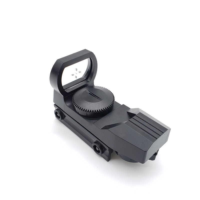 20mm רכבת Riflescope ציד אופטיקה הולוגרפי ירוק Dot Sight רפלקס Reticle טקטי היקף Collimator Sight פלסטיק צעצוע