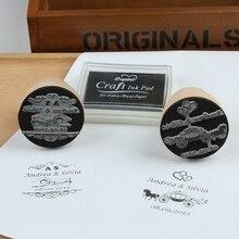 Персонализированное имя, дата ваше лого на заказ Деревянный Свадебный штамп печать для приглашения Канцтовары DIY винтажный деревенский Свадебный декор