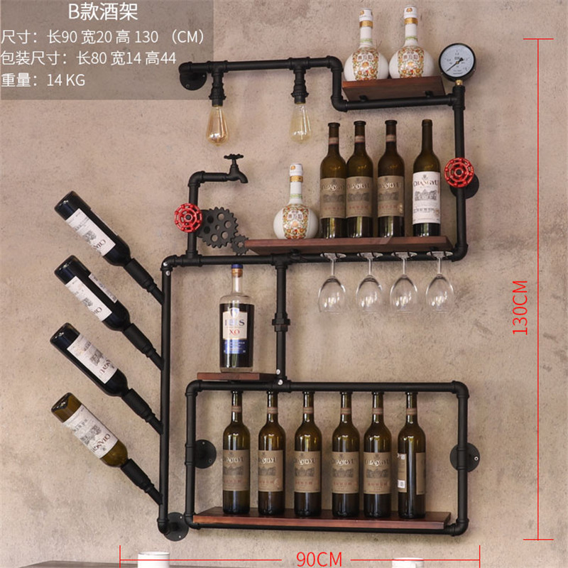 Retro DesigIron Art Wine Support Cabinet Flat/Tilted Types 1-16 Bottles Modern Iron Wall-mounted Wine Holder Wine Rack