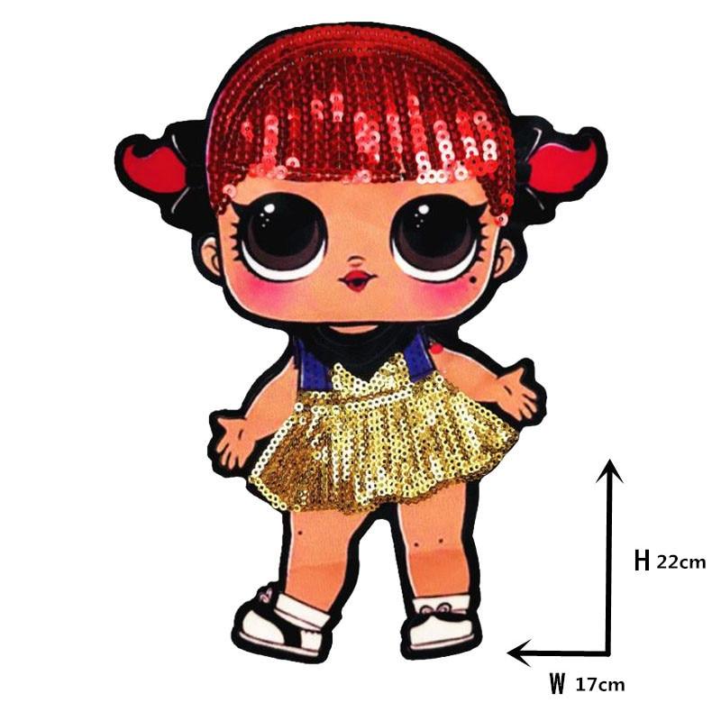 Мультяшные нашивки женские модные куклы лол для девочек Милая Модная Кукла-мальчик вышивка на одежду ручная работа украшение одежды Блестки Ткань - Цвет: WW-15