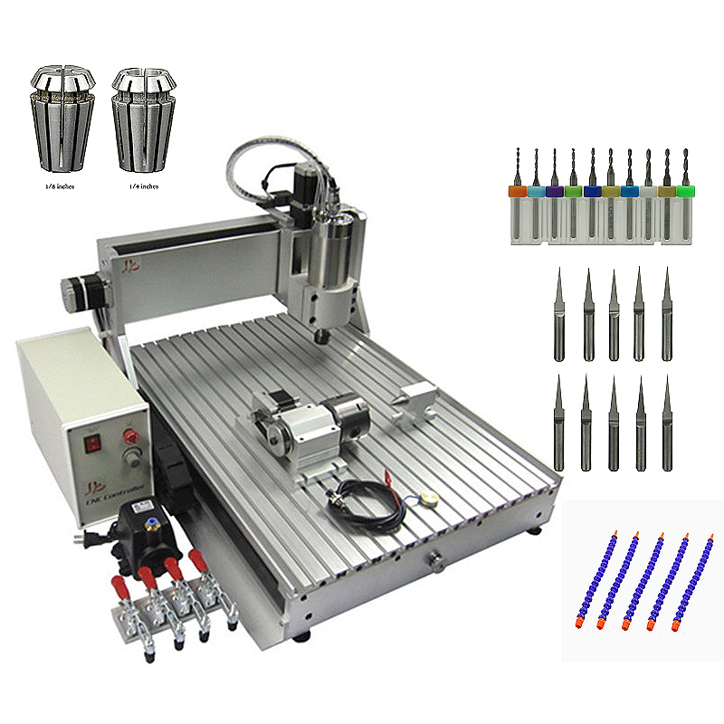 6090Z 1.5KW CNC Router 3axis 4axis Engraver Engraving Drilling And Milling Machine