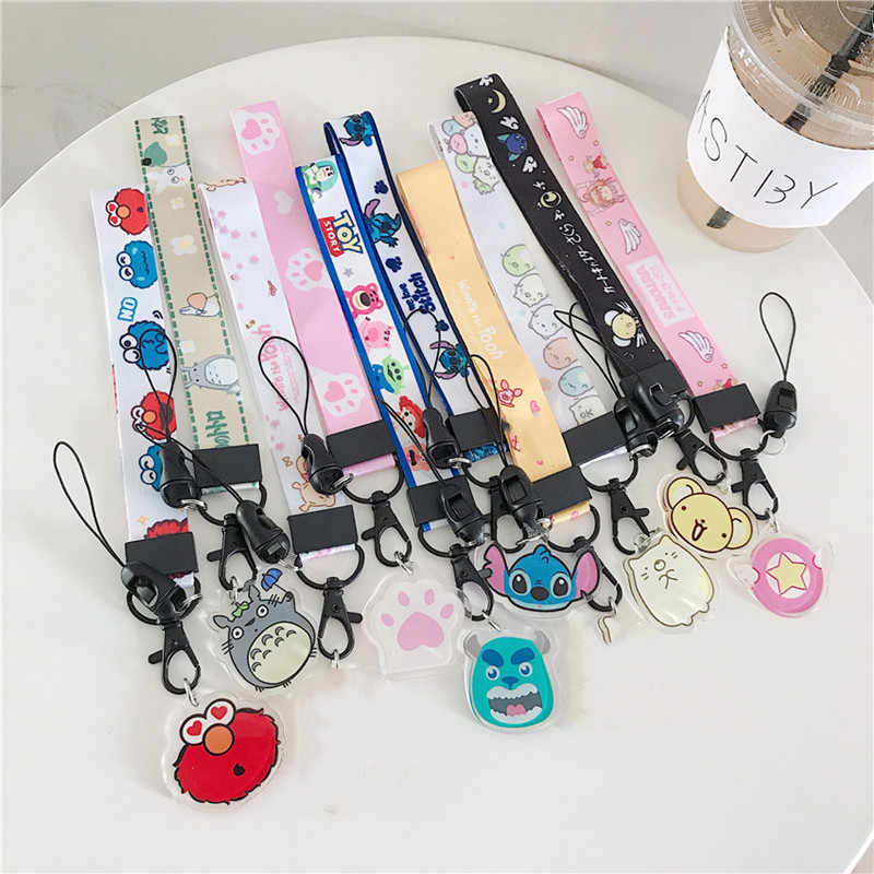 Leuke Cartoon Verstelbare Wrist Strap Hand Lanyard Voor Telefoon iPhone Samsung Camera GoPro USB Flash Drives Toetsen Id-kaart sleutelhanger
