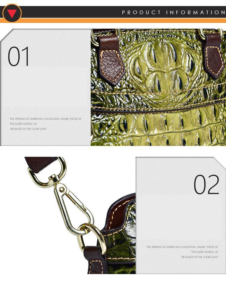 Johnature jacaré padrão bolsas de luxo 2020