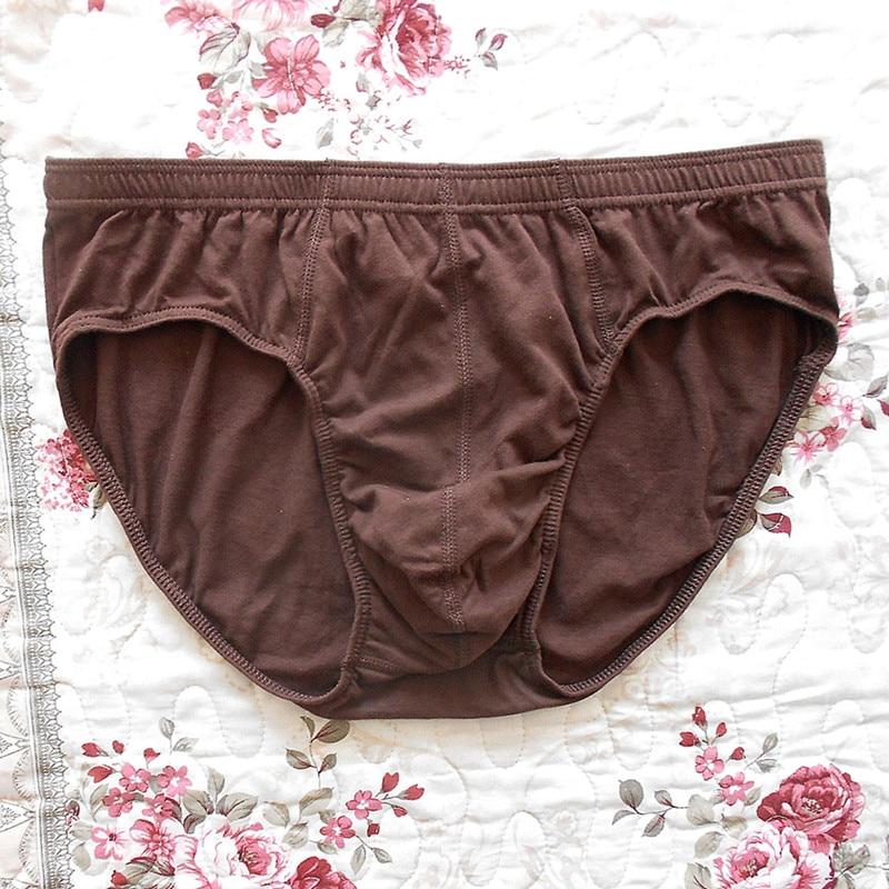 Image 3 - Briefs Men 4 pieces/lot Sexy Underwear 100% Cotton Plus Size Male Panties Shorts Grey blue brown black Brand BUDDLEJABriefs   -