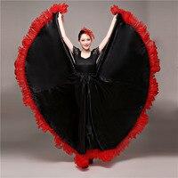 Испанский бой быков танцевальная юбка в стиле фламенко бальные костюмы в стиле искусства женское атласное платье Цыганский красный костюм ...