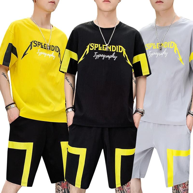 Fashion Top Shirts And Shorts Men's Summer Set Uniform Sweatsuits Track Suits