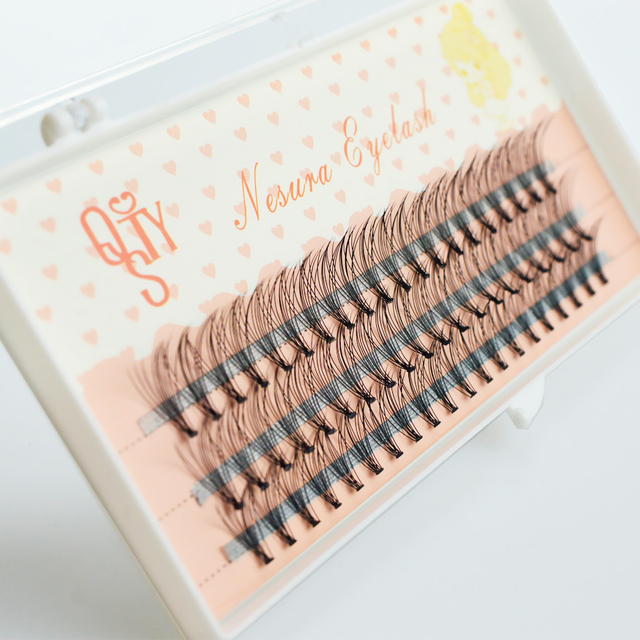 1 Case 6D eyelash extensions mink black fake false eyelashes curl natural eye Grafting  Lashes Makeup Individual 2