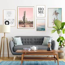 Пальмовый Пейзаж Плакат морской пейзаж настенная живопись природа