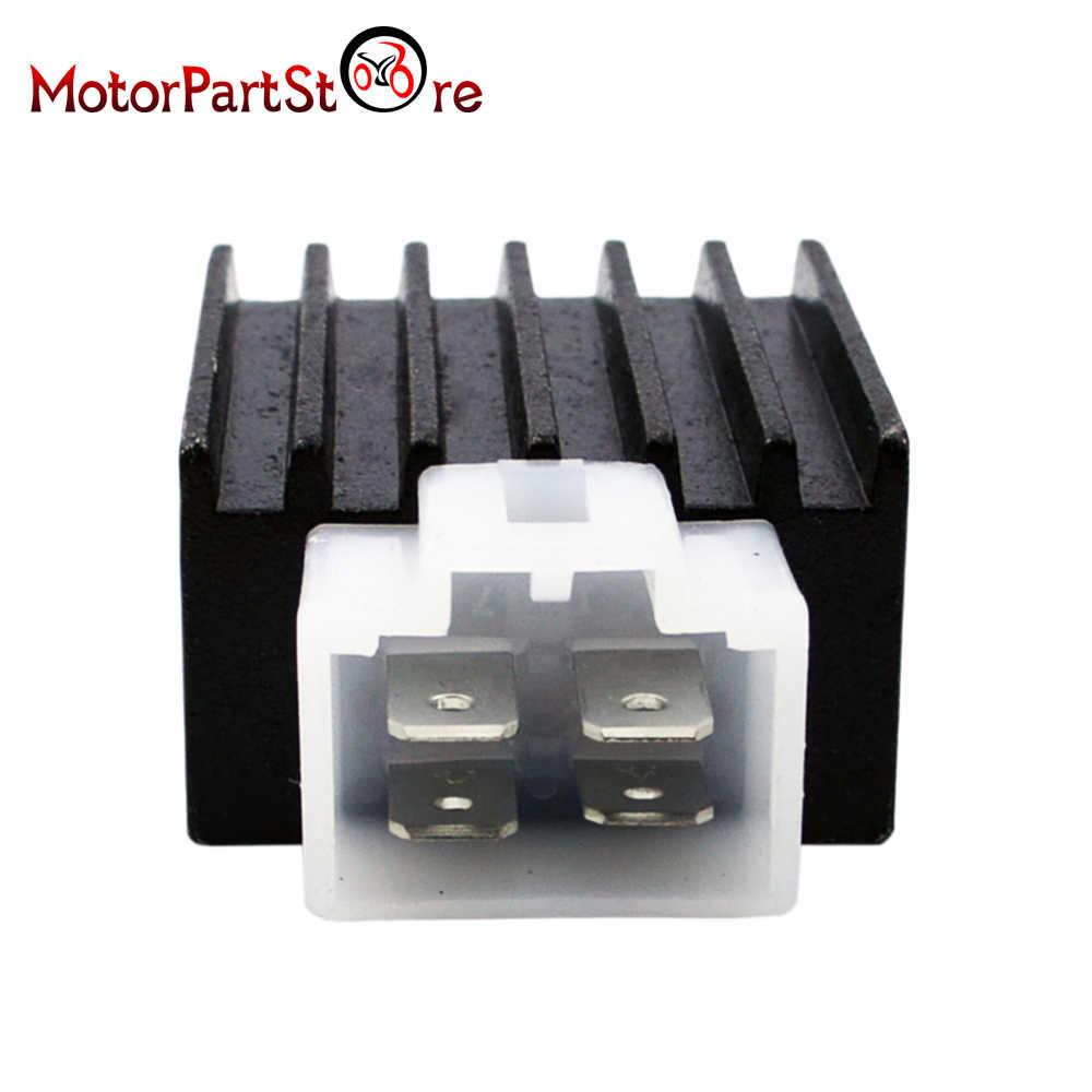 4-pin Full-wave Voltage Regulator Rectifier for 50cc 70cc 90cc 110cc 125cc 150cc ATV Quad Dirt Bike Go Kart Scooter Moped Pit Bike