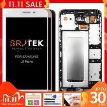 Tek delik için orijinal ekran SAMSUNG J5 başbakan için çerçeve ile LCD dokunmatik ekran SAMSUNG Galaxy J5 başbakan G570F G570 SM G570F