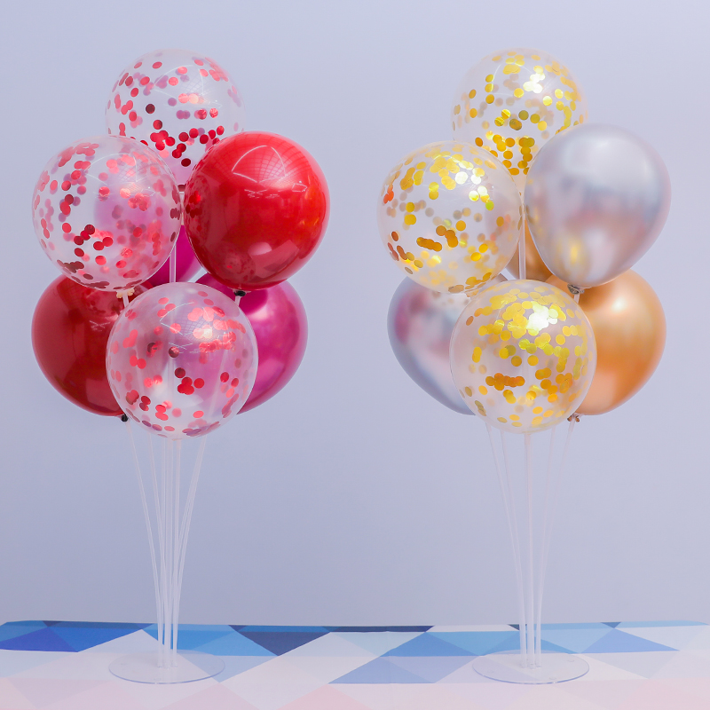 7 Tubes Stand Balloon With Holder Column Confetti Balloon For Baby Shower And Wedding Decoration 2