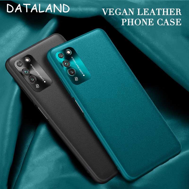 Huawei honor x10 caso capa dura textura de couro vegan silicone volta capa para huawei honor x10 casos honra x10 telefone coque