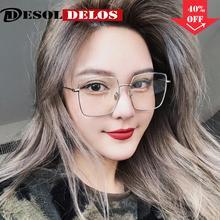 Korean Fashion Square Clear Glasses Women 2019 New Oversized Eyewear Spectacle Frames Transparent Oculos Eyeglasses Fake