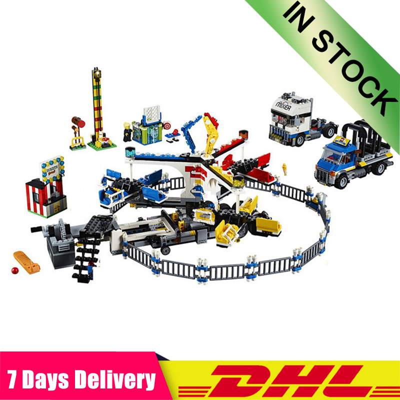 IN STOCK  15014 1858pcs Amusement Park The Carnival Model Building Blocks Architecture Toys Compatible  10244