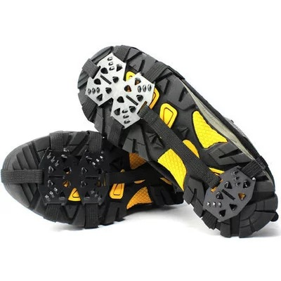 Outdoor 18tooth Manganese Steel Crampons Anti-skid Shoe Covers Snow Claws Hiking Fishing Shoes Nails Snow Mud Ice Caught