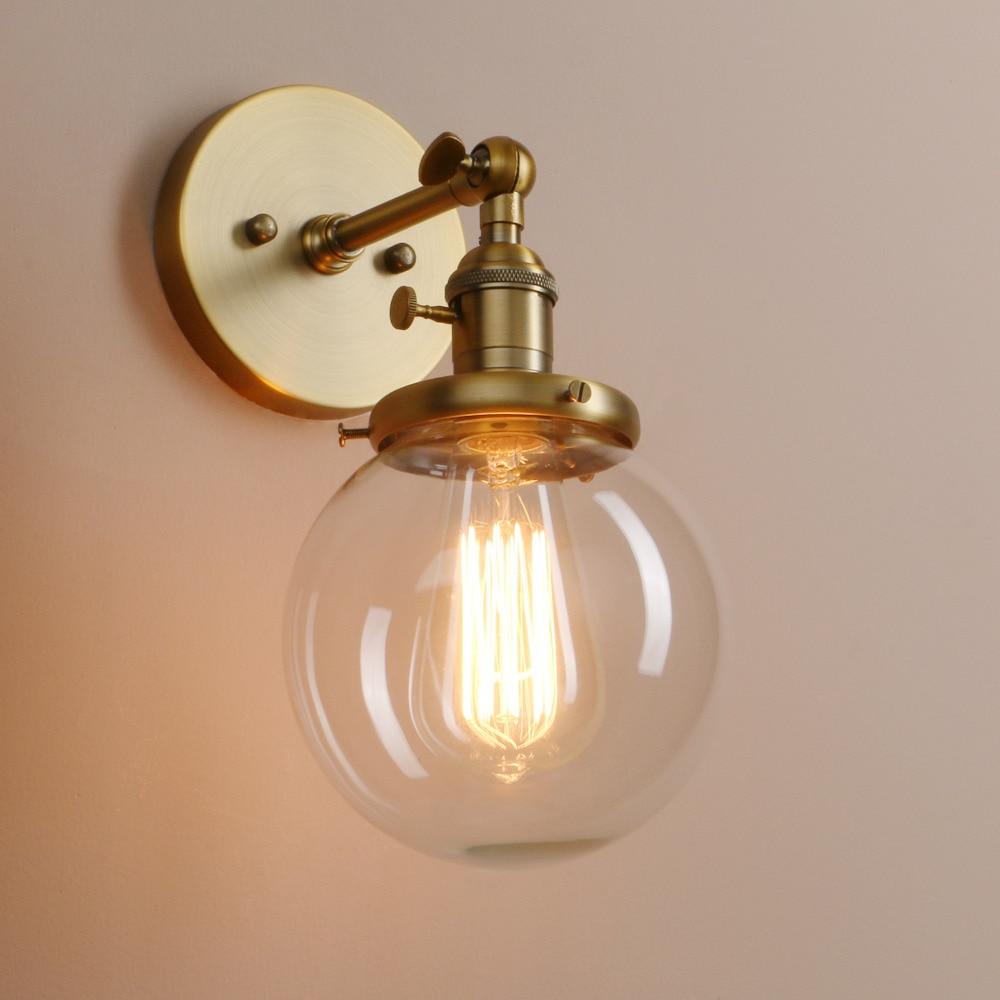 vidro moderna do vintage arandela luzes de