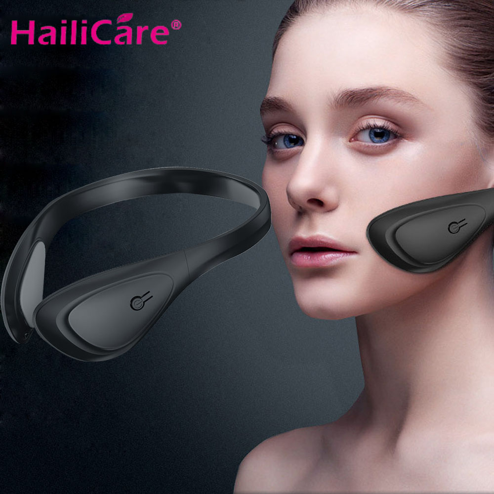 Electric Face Lifting Instrument Ems Facial Massager V Face Shape Masseter Muscle Thinning Anti Aging Skin Lifting Firming Tool