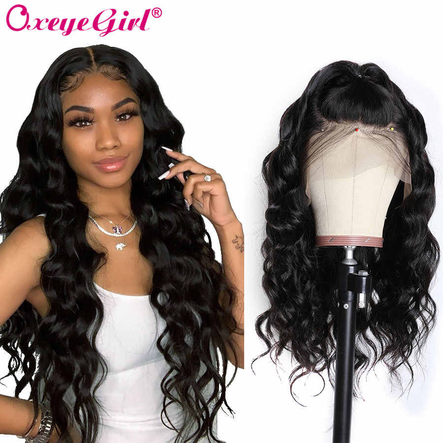 360 Lace Frontal Wig Pre Plucked With Baby Hair Remy Peruvian Body Wave Wig Oxeye girl 250 Density Lace Front Human Hair Wigs