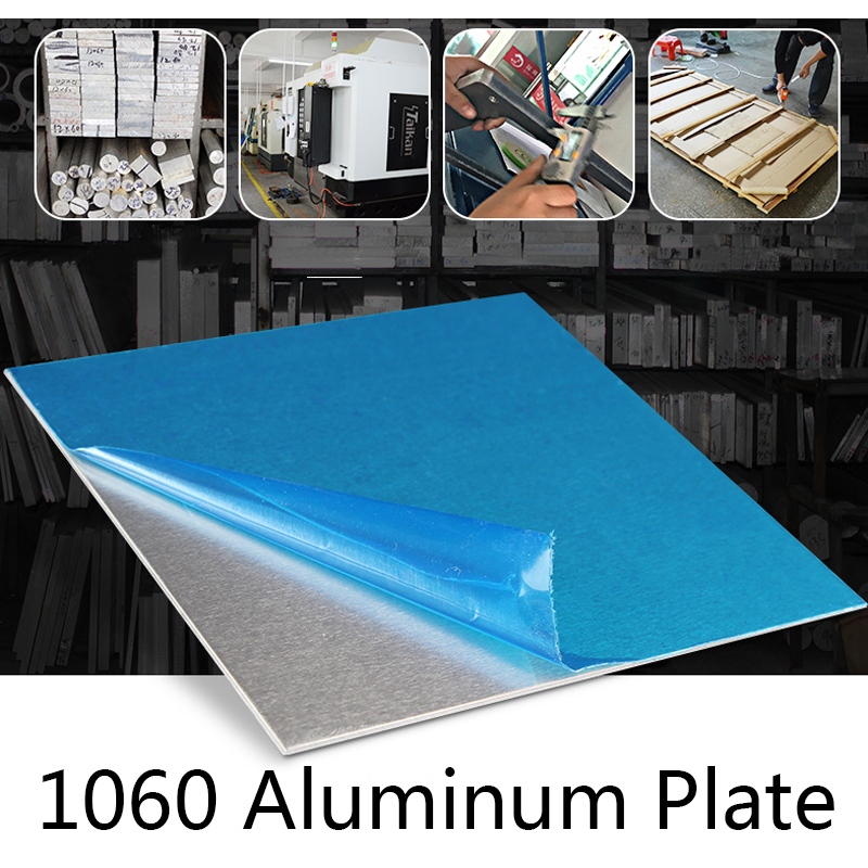 1060 Aluminum Flat Plate Board Electrical Application Laser Processing Cutting Pure Aluminum Sheet DIY Material Machinery Parts