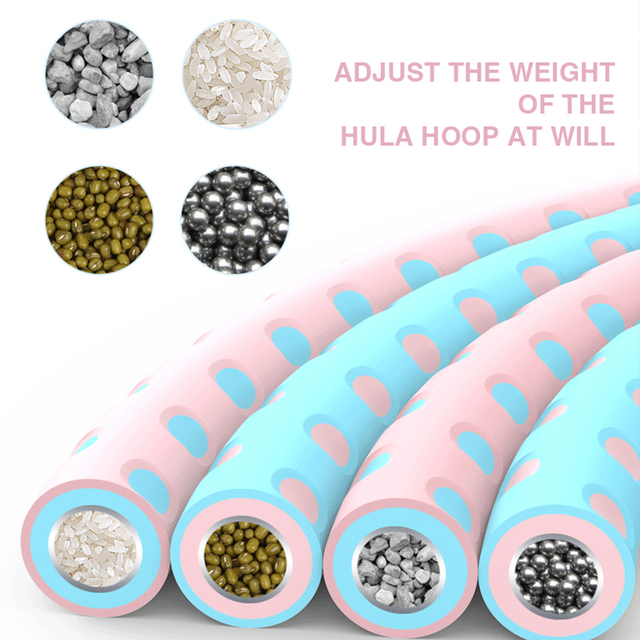 Detachable Hola Hoop Sport Hoop Weighed Adjustable Waist Trainer Ring Fitness Workout Equipment Gym Home Fitness Circle 4