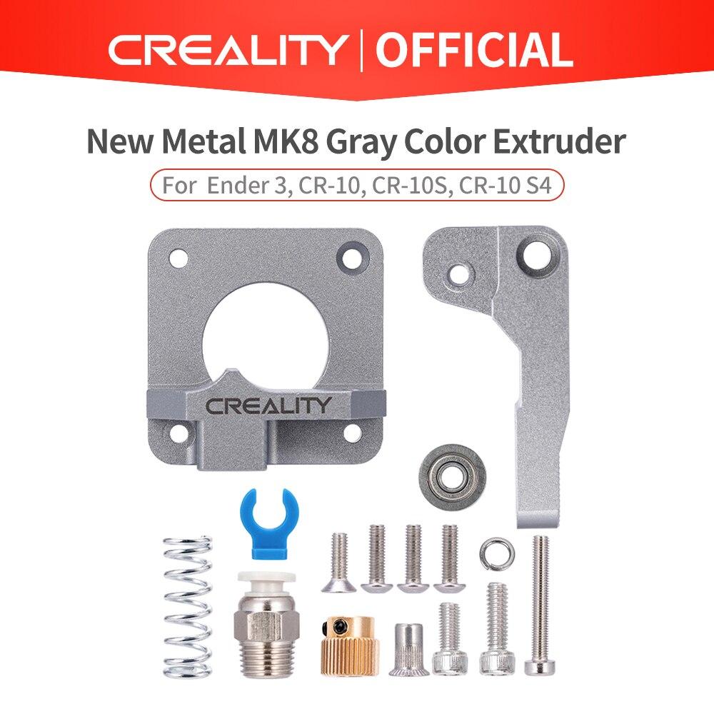 creality 3d extrusor de metal mk8 cinza bloco de liga de aluminio extrusora bowden filamento de