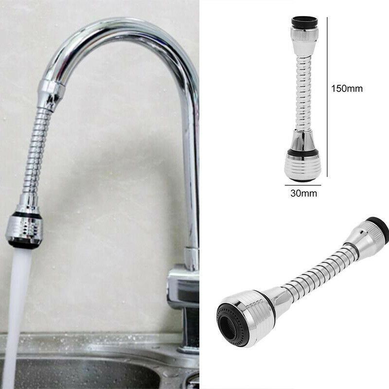 HOT Stainless Faucet Extension Bubbler 360 Rotate Shower Head Kitchen Sink Bathroom Aerator Water Saving Lengthen Tap Filter