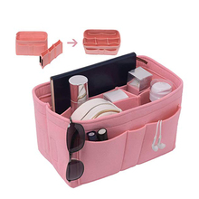 Makeup Organizer Multi-Compartment Solid Color Large Capacity Storage Bag Pouch Cosmetic Durable