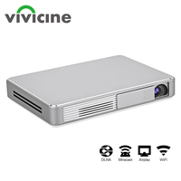 Vivicine W10 Portable Mini DLP Smart Projector,Support 1080P 4K WiFi Home Theater Video Game Projector Beamer